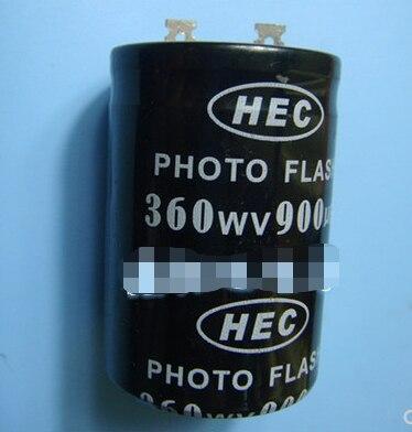 Retail 360v 900uf Photo Flash Capacitor 35*50mm