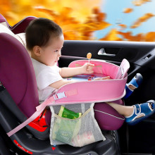 Baby Children Portable Table For Car Baby Stroller Holder Food Desk Waterproof New Child Table Car Seat Tray Storage Kids Toy(China)