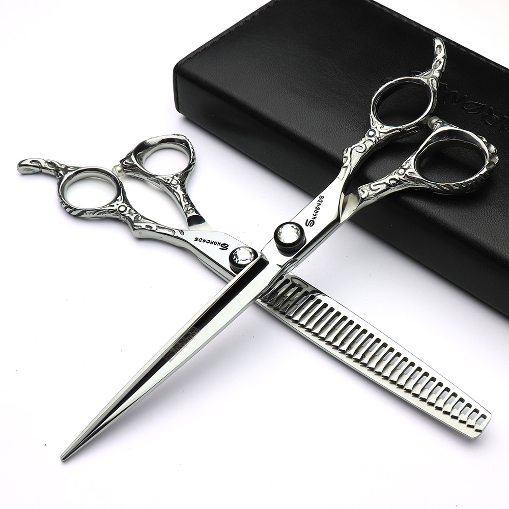 new hair scissors 7 inch silver hairdresser professional hairdressing scissors tool stainless steel scissors equipment stainless steel cuticle removal shovel tool silver