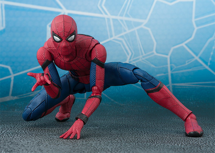 Free Shipping 6 Super Hero Spider-Man Spiderman SHF Ver. Boxed 15cm PVC Action Figure Collection Model Doll Toy Gift free shipping 6 comics dc superhero shfiguarts batman injustice ver boxed 16cm pvc action figure collection model doll toy