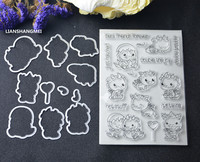 Twin Dinosaur Metal Cutting Dies And Stamp Stencils For DIY Scrapbooking Photo Album Decorative Embossing DIY