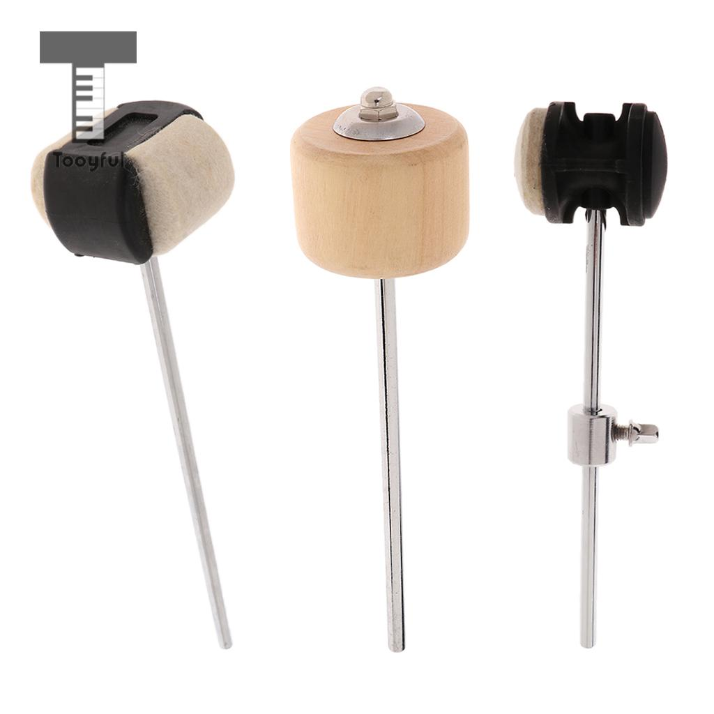 Tooyful Drum Pedal Beater Hammer Felt/Wood Head Mallet For Jazz Drum Replacement Parts Percussion Instrument Accessory