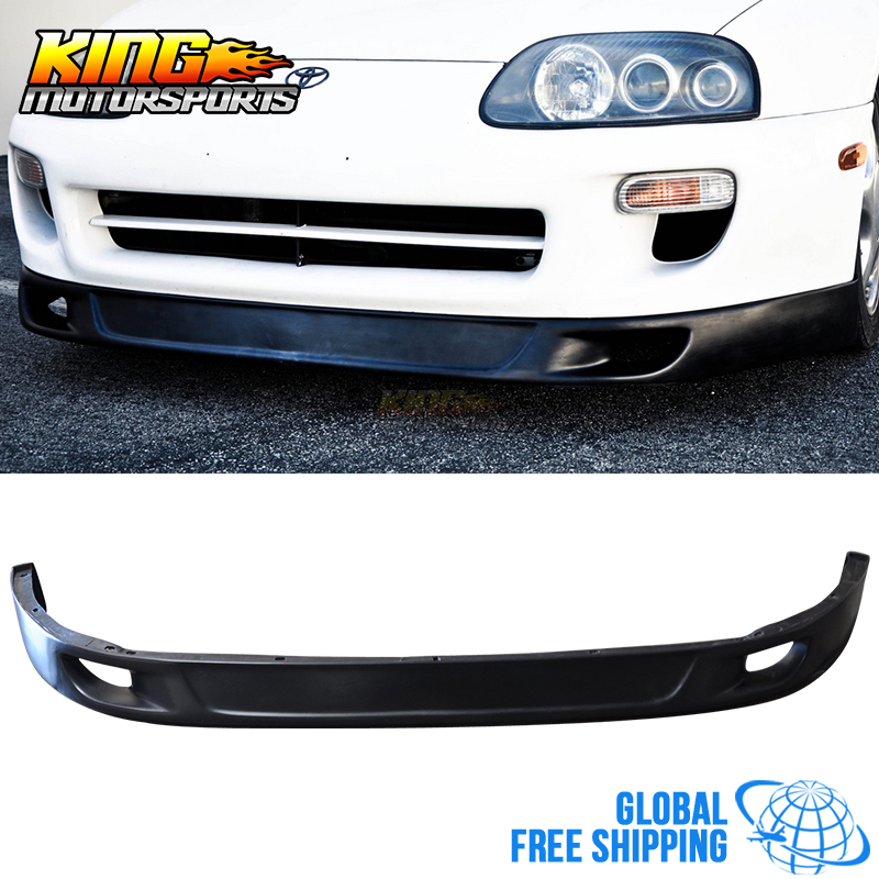 For 93 98 Toyota Supra Front Bumper Lip V2 Style Without The V1 Side Flaps  Urethane Global Free Shipping Worldwide In License Plate From Automobiles  ...