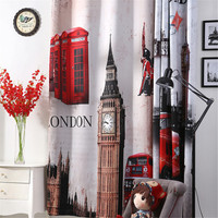 3d curtains London Blackout curtains for livingroom Big Ben car Blinds tende drapes bedroom window door curtain home christmas