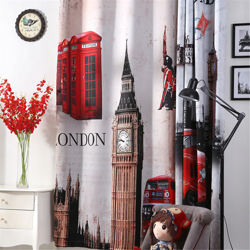 3d curtains London Blackout curtains for livingroom Big Ben car Blinds tende drapes bedroom window door curtain home christmas 3d curtains London Blackout curtains for livingroom Big Ben car Blinds tende drapes bedroom window door curtain home christmas