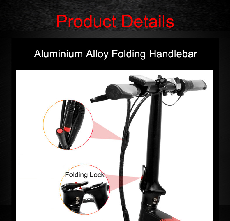 20 Inch Folding Mountain Bike 500W 48V 14.5Ah Lithium Battery Fat Bike Electric Bike 5 Level Pedal Assist Suspension Fork