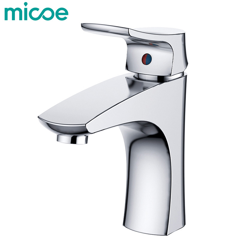 Micoe New Basin Faucet Bathroom Basin Taps Basin Mixer Waterfall Bathroom Chrome Cold And Hot Water Tap Deck Mounted H-HC215 led waterfall bathroom basin faucet deck mounted washbasin bathroom tap 5 pcs set flush cold and hot water mixer taps