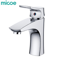 Micoe New Basin Faucet Bathroom Basin Taps Basin Mixer Waterfall Bathroom Chrome Cold And Hot Water Tap Deck Mounted H HC215
