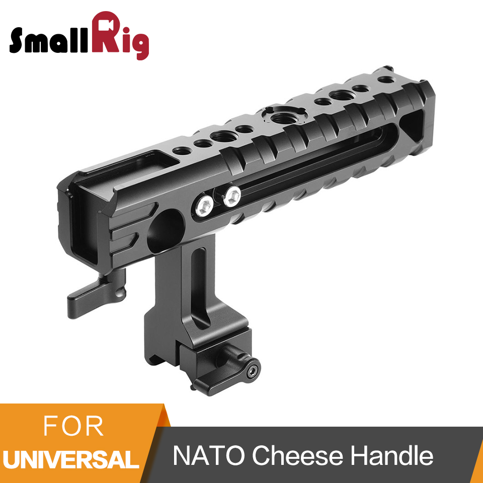 SmallRig Camera Grip Handle Nato Cheese Handle With 15mm Rod Clamp Built-in Cold Shoe Quick Release Dslr Camera Top Handle- 1688 smallrig camera grip qr cheese handle with 15mm rod clamp and an arri rosette screw hole multiple functions handle 1688