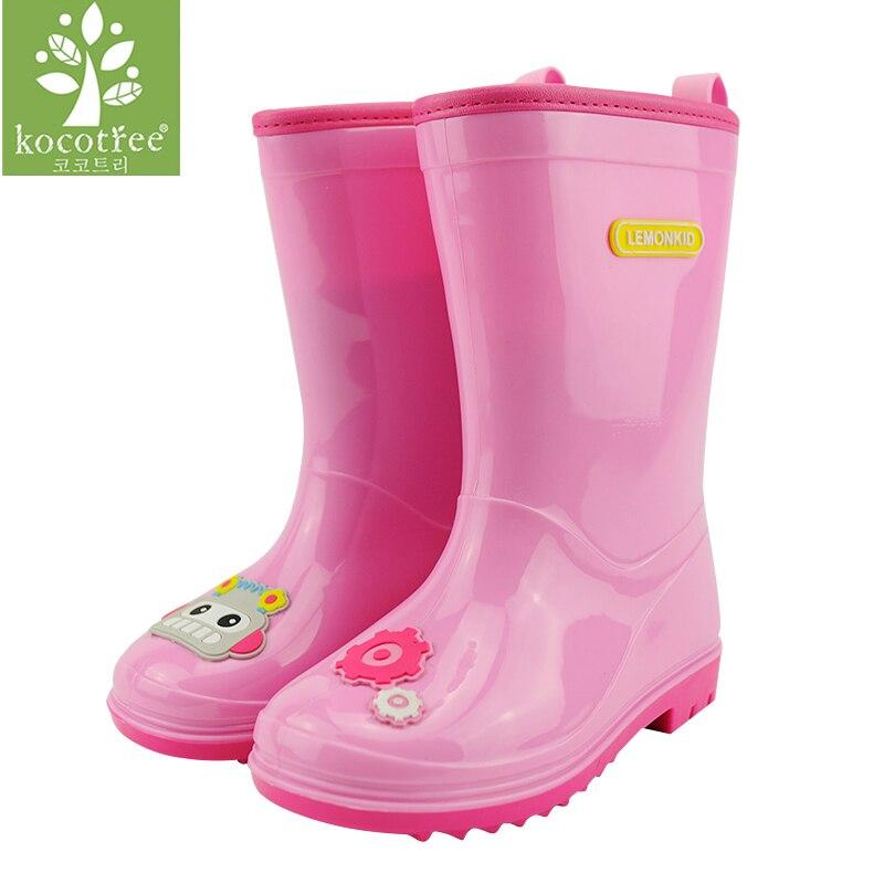 Kocotree Brand New Design Cartoon Kids Rain Boots Anti skid Girls Boys Waterproof PVC Shoes Cute Children Student Water Shoes