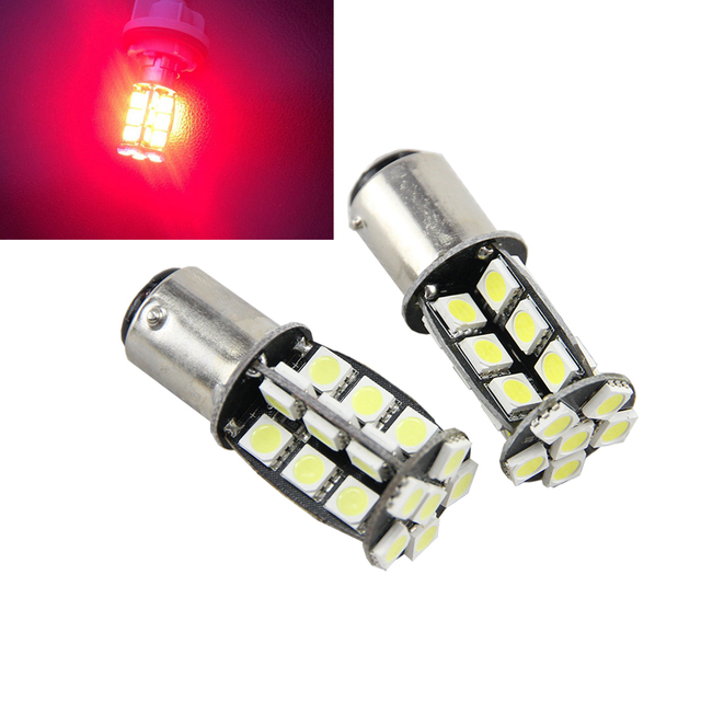 2x S25 1157 BAY15D 1076 30pcs 5050 Chips LED Brake Light LED Car Vehicle Stop Signal Tail Bulb Car Parking light White/Red/Amber