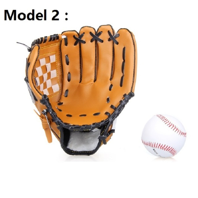 ZYMFOX Baseball Glove Catcher Gloves Softball Right Hand Gloves Exercise Equipment Sport Training Accessories Left/Right Hand 3