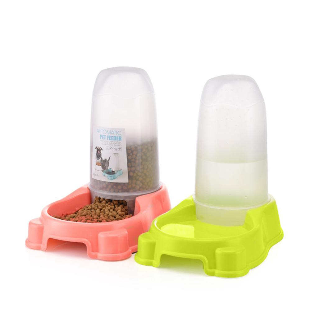 LumiParty Dual Purpose Automatic Pet Feeder Water Fountain Food Water Dispenser Pet Bowl For Cat Dog-25