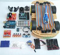 Multi Functional 4WD Robot Car Kits Sensor Board Ultrasonic Module Robot Car Assembly Kit