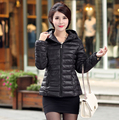 women winter jacket cotton jacket 2016 slim new wadded coat black fashion parkas plus size XL-5XL women's clothing hooded