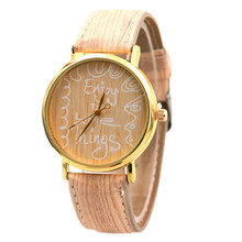 Fashion Wooden Letters Printed Watches