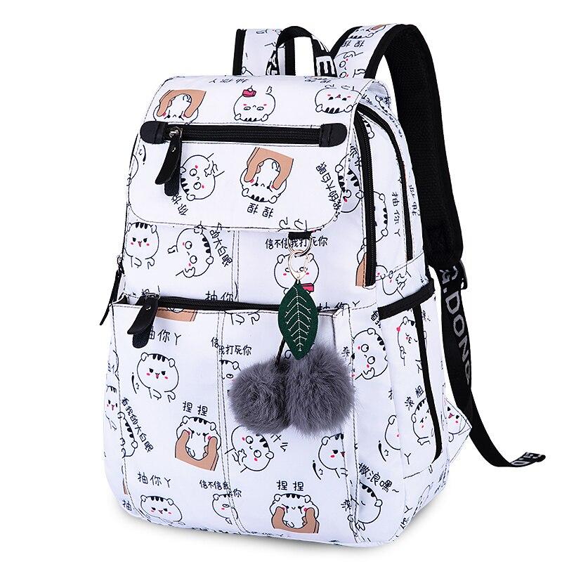 2019 New Women Emoji Shoulder Bag Best Travel Women Backpack Female Printing Waterproof School Knapsack Mochila Bagpack Pack #2