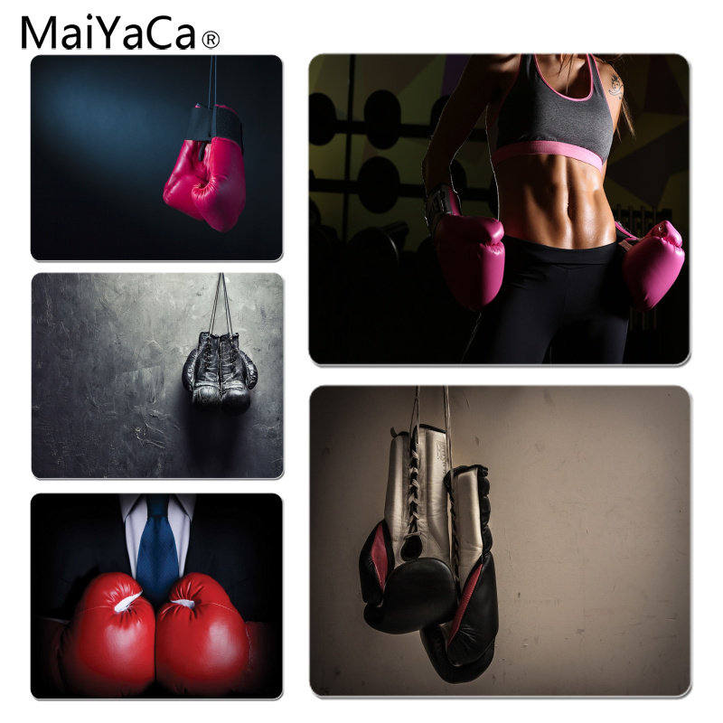 MaiYaCa My Favorite Gloves Girl Boxing Laptop Computer Mousepad Size for 180x220x2mm and 250x290x2mm Rubber Mousemats