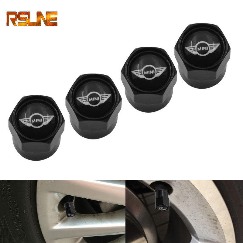 4PCS/set Car Accessories Wheel Tire Parts Valve Stem Caps Cover For BMW MINI Cooper One S R50 R53 R56 R60 F55 F56 Car Styling