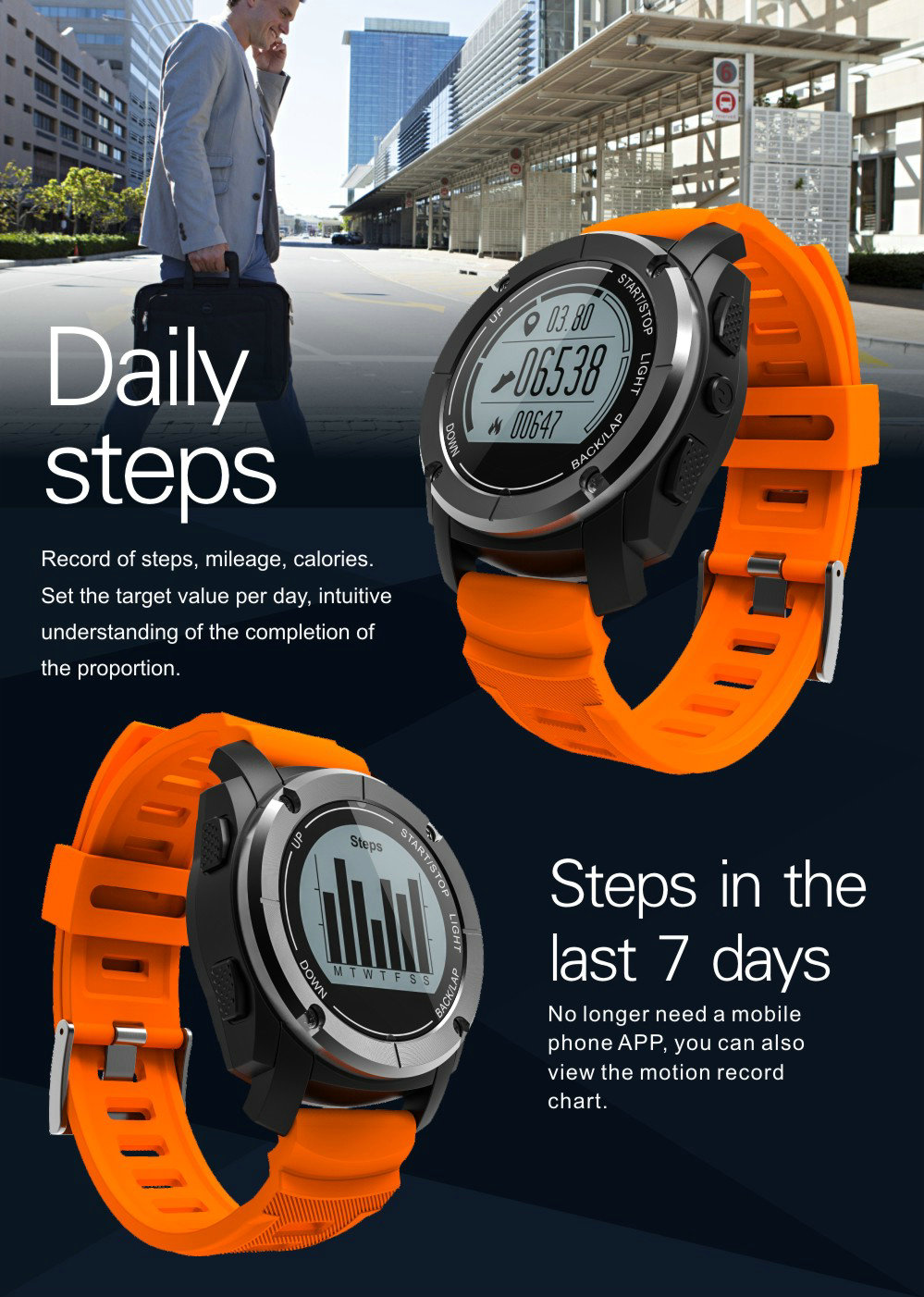 Greentiger GPS Outdoor S928 Smart Watch Heart Rate Monitor Smart Wristband Sport Smartwatch for Android IOS Phone 19