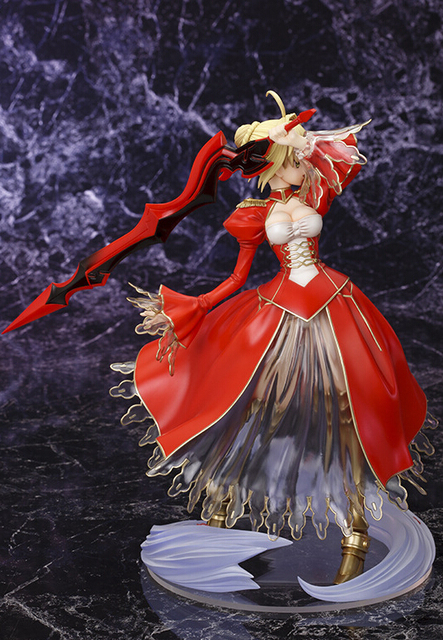23cm Fate Stay Night Fate/EXTRA Saber Action Figures PVC brinquedos Collection Figures toys for christmas gift