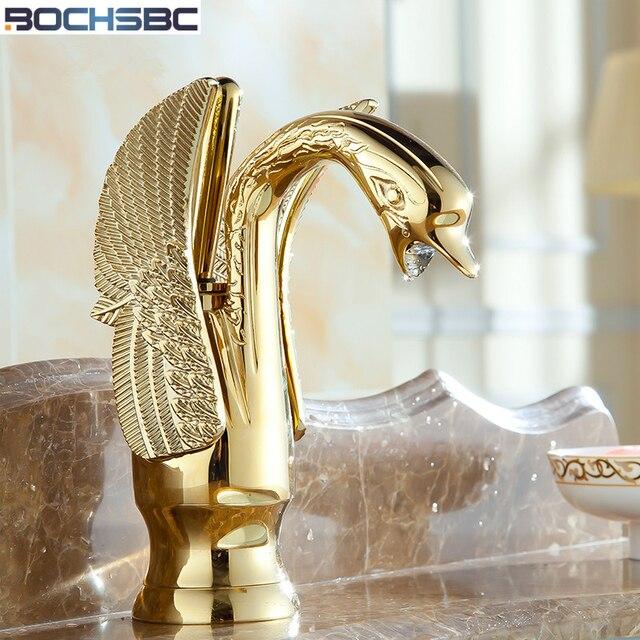 Bochsbc Gold Schwan Becken Armaturen Antike Plating Goldene