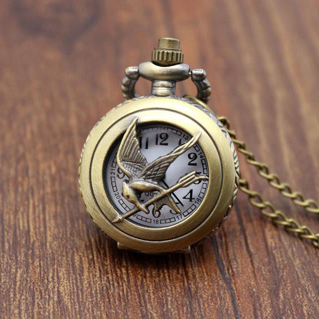 Hunger Games Bird Antique Pocket necklace, pendant & Watch