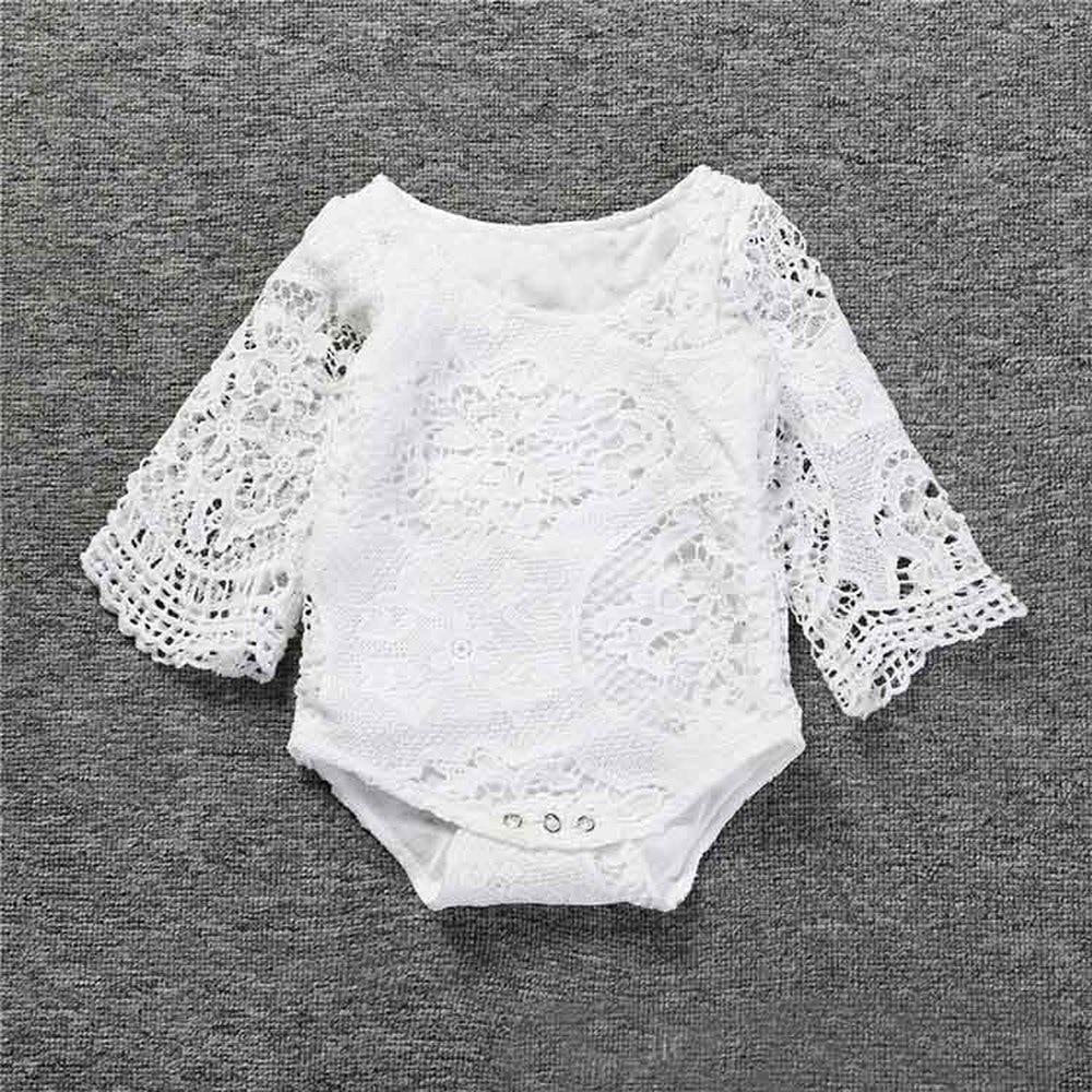 # Lhf89 Baby Mädchen Rüschen Hülse Weiß Spitze Strampler