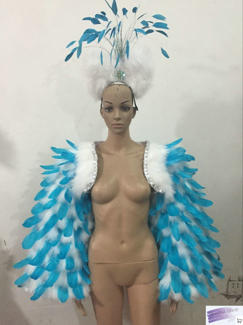 Plume cape sexy costumes carnaval femmes coiffes jambe bande pantalon court halloween costumes pour femmes sexy adulte samba