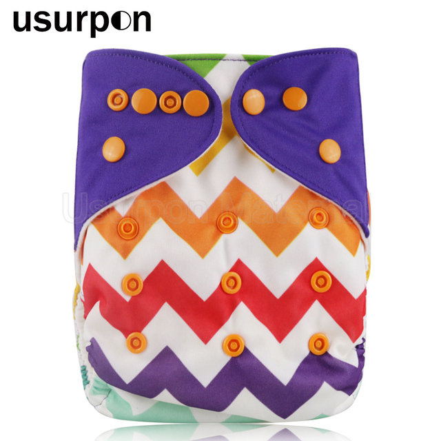 [usurpon] 1 pc reusable cloth diaper for babies suede cloth diapers one size fits all washable baby diapers for 0-2years