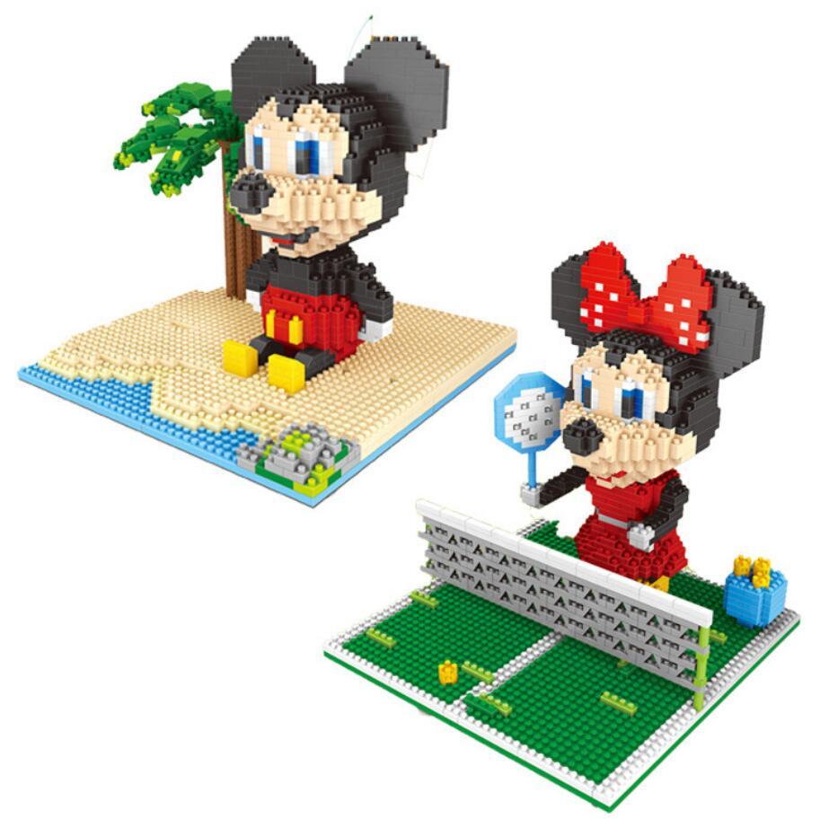Stapelleisten Klassische Cartoon Bild Maus Micro Diamant Building Block Mickey Minnie Nanoblock Montieren Ziegel Modell Spielzeug Für Kinder Geschenke