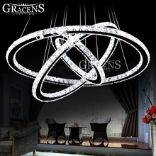 Best Selling LED Crystal Ring Chandelier Lamp / Light / Lighting Fixture Modern LED rings Lusters Diameter 700mm modern circles led ring chandelier pendant lamp suspension light lighting fixture 90 260v