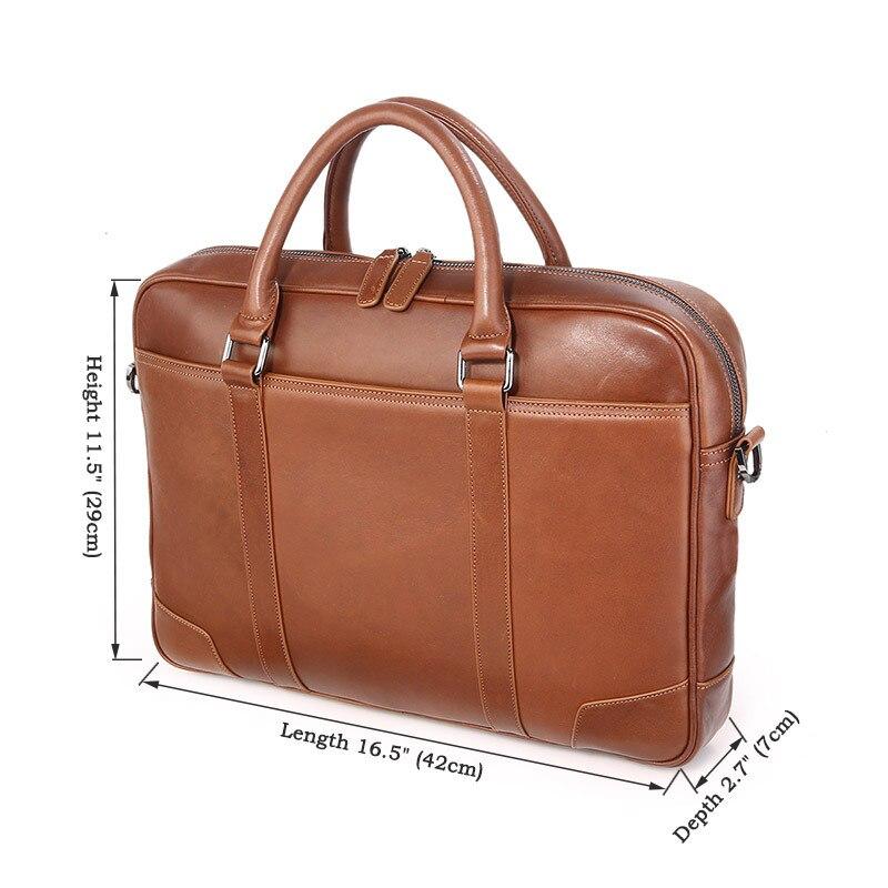 HTB1i.iBXffsK1RjSszbq6AqBXXa6 Nesitu Black Brown Genuine Leather Office Men Briefcase Messenger Bags Real Skin Business Travel Bag 14'' Laptop Portfolio M7349