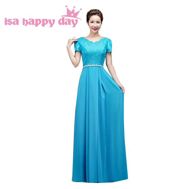 Robes De Soiree Ladies Long Latest Evening Gown Designs Floor Length  Chiffon Dress 2017 New Arrival Blue Dresses Gowns H3118 In Evening Dresses  From ...