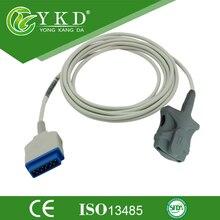 GE Marquette (módulo da nellcor) Adulto Macio Dica spo2 sensor compatível com Traço monitor do paciente, 11 pinos