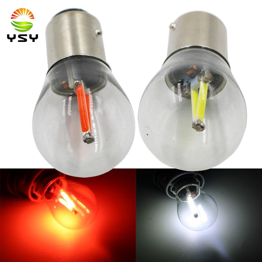 YSY 50X 1156 P21W BA15S 1157 BAY15D LED COB filament chip 12 24V S25 Auto LED