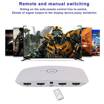 Wearpai HDMI 2.0 Switcher 3 In 1 Out 4 K SPDIF & RCA L/R Uscita Audio HDMI Estrattore Audio Telecomando Per PS4 Pro, TV, XBox 360