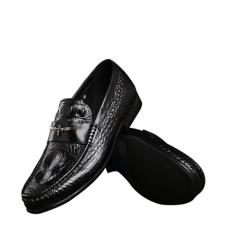 brand designer formal mens wedding shoes genuine leather