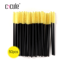 4 Colors 50Pcs Pack Disposable Eyelash Brushes Cosmetic Mascara Wands Applicator Spoolers Makeup Eye Lash Brush