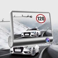 4 0 Inch 1080P Car DVR 3 Camara Lens Dash Silver Recorder Rearview G Sensor Car