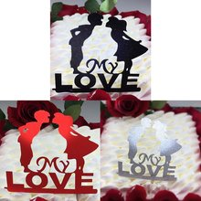 Wedding Cake Topper Bride Groom Mr Mrs paper Cake Toppers Wedding Decoration Mariage Party Supplies Adult Favors(China)