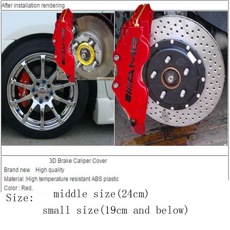 4 Stücke Universal Bremssattel Abdeckung Kit Auto Aufkleber Größe L M Auto Styling Dekoration Für Benz Amg Fit Zu Rad 18 Zoll