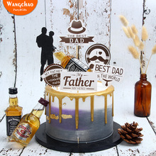 Happy Fathers Day Cake Decoration Best Dad Hero Father Theme Birthday Party DIY Supplies 2019