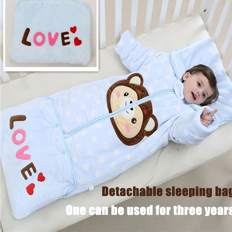 Comfortable Flannel Thickening Skinfriendly Detachable Baby Sleeping Bag Multi-purpose Newborn Blanket Bathrobe Slumber EnvelopeComfortable Flannel Thickening Skinfriendly Detachable Baby Sleeping Bag Multi-purpose Newborn Blanket Bathrobe Slumber Envelope
