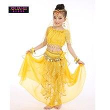 Kualiti Indian Sari Girls Dress Orientale Enfant Kostum India Untuk Kanak-kanak Oriental Dance Costumes Belly Dance Dancer Pakaian Set