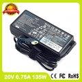 20 В ADL135NLC3A 6.75A Подлинная ultra slim ноутбук адаптер переменного тока для lenovo зарядное устройство Y40-70AT Y40-80AT Y50-70 Сенсорный Y50-70AM Y50-70AS