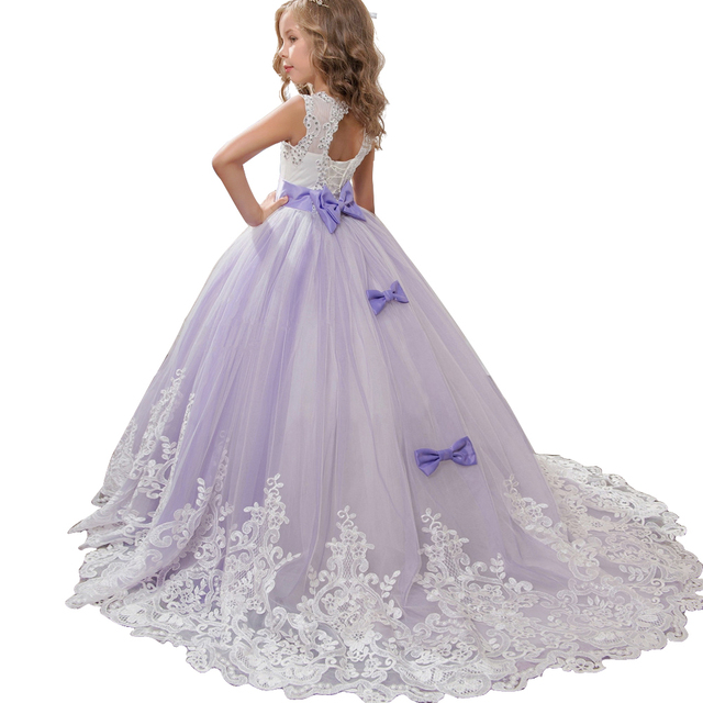 402cb070d Childrens Dresses High-grade lace Girls Flowers Party Costume For Kids Girl  Pageant Dance Ball Gown Princess Prom Birthday Dress