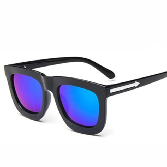 Moda gafas de sol hombres polarizados gafas de sol hombres mujeres conducción  espejo revestimiento puntos negro 37c7a5522b26