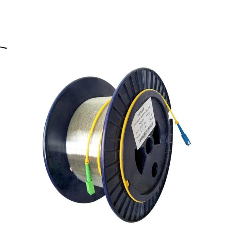 SC UPC-SC APC 9/125 G652D monomodo solo bulbo/foco disco fibra OTDR de medición de Cable de fibra óptica OTDR de fibra de extensión del probador de línea Conector rápido FTTH SC APC, 100 Uds., 50 Uds., fibra óptica de modo único, conector rápido SC UPC, adaptador de fibra óptica de cola recta
