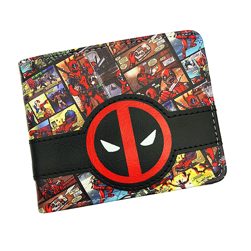 New Design  Wallet Deadpool / Captain America Purse Fashion High Quality